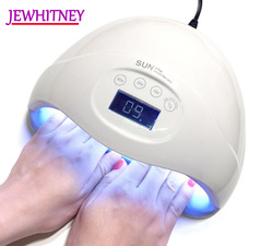 Jewhiteny 24 LEDs 48W UV LED Nail Lamp For Manicure Nail Dryer For Nail Gels Polish Two Hand Lamp 15/30/60S Infrared Sensing