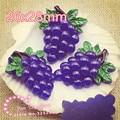 Harz fruit lila trauben flachen rückseite cabochon für DIY dekoration  haarschleife zentrum  50 stücke-in Figuren & Miniaturen aus Heim und Garten bei