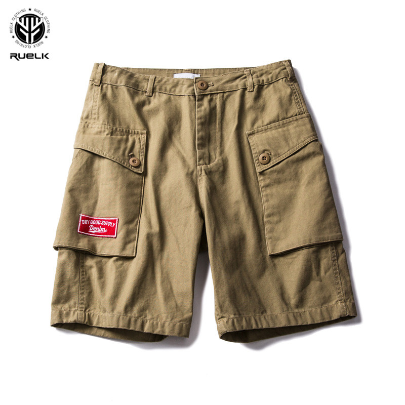 Ruelk 2018 New Style Summer Multi-pocket Camouflage Mens Shorts Casual Loose Knee-length Mens Cargo Shorts