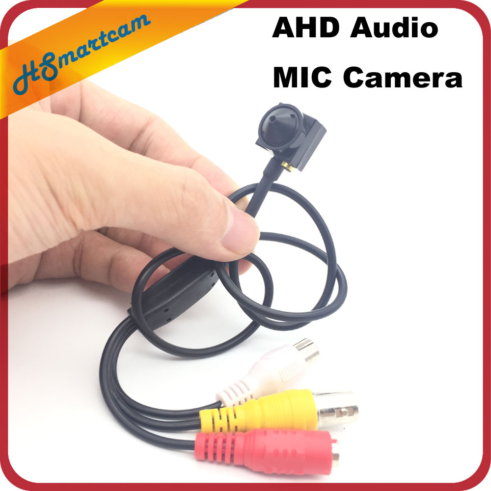 1.3MP 960P Pinhole 3.7mm lens Indoor Mini AHD Security CCTV Camera With Audio mic Camera For AHD DVR DC 12V