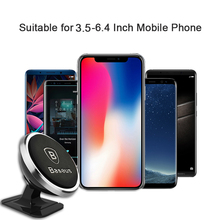 Baseus Magnetic Car Phone Holder For iPhone X Samsung S9 Magnet Mount FI01