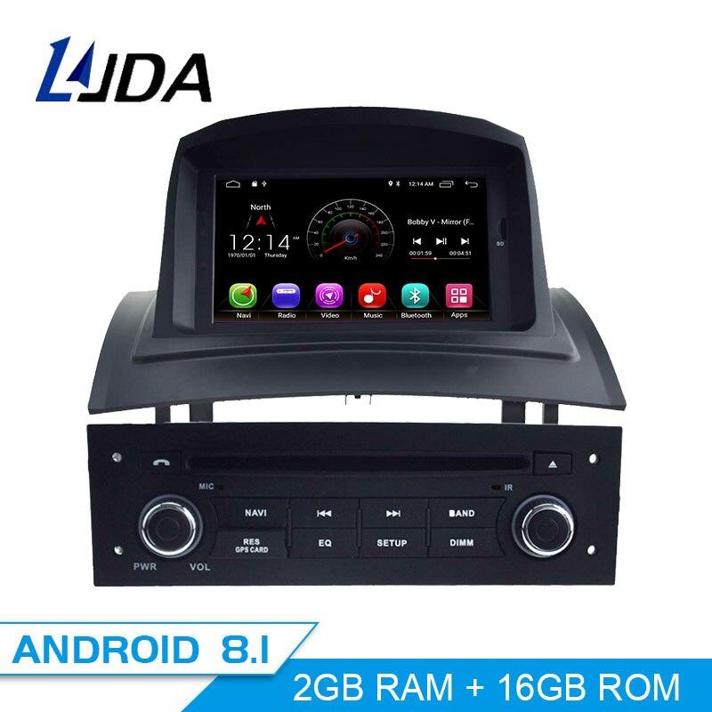 LJDA Android 8.1 Lecteur DVD de Voiture Pour RENAULT Megane Fluence 2002-2008 Voiture Lecteur Multimédia GPS Navigation WIFI 1 din Voiture Radio