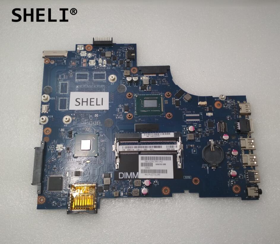 SHELI For Dell 3721 5721 Motherboard with I3-3217U LA-9102P CN-00KC18 00KC18 0KC18 sheli for dell 15z 5523 motherboard i5 3337u cn 0tvjw0 0tvjw0 tvjw0