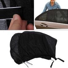 2 पीसी / सेट कार विंडो सन शेड सन विज़र साइड मेष विंडो पर्दा Foldable सनशाडे कार स्टाइलिंग यूवी संरक्षण कवर Sunsahdes