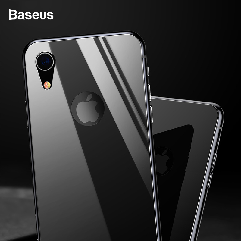 Baseus 0.3mm Back Screen Protector For iPhone XR Tempered Glass Full Curved Rear Protection Toughened Back Glass For iPhoneXr