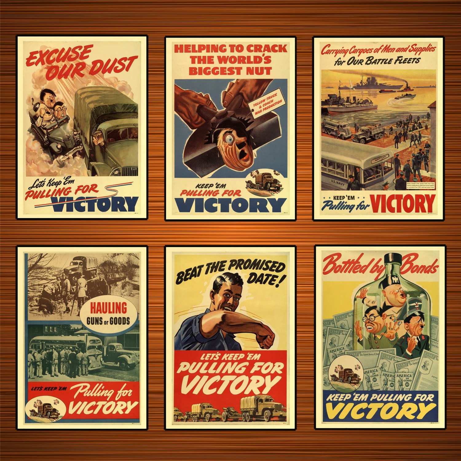US NAVY WW2 WWII Propaganda Pacific Print A3 A6 Vintage POSTER SAVE SCRAP