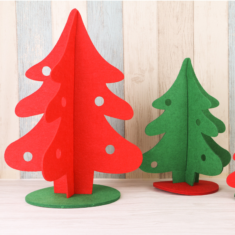 creative christmas decorations non woven hollow diy christmas tree hotel mall decoration natal navidad christmas children gift in trees from home garden