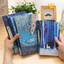 2018 Creative Lined Notepad Cute Planner Diary Note Book Kawaii Blue Deer School Notebook And Journals School Stationery Store