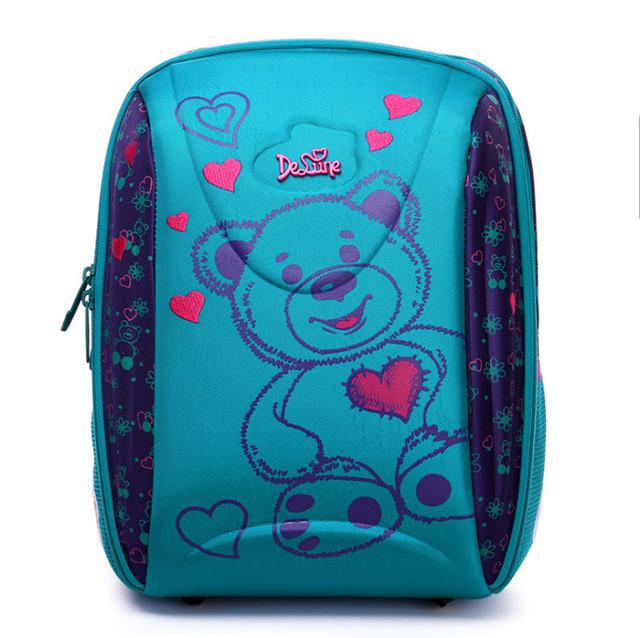 Russia hot High quality brand 3D children Large capacity kids school bag free doll students travel backpack child Stationery bag