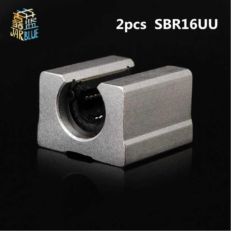 Free Shipping 2pcs SBR16UU aluminum block 16mm Linear motion ball bearing slide block match use SBR16 16mm linear guide rail sbr16 free shipping 2pcs lot free shipping sbr16uu 16mm linear ball bearing block cnc router sbr16