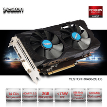 Yeston Radeon RX 460 GPU 2GB GDDR5 128 bit Gaming Desktop computer PC Video Graphics Cards support DVI/HDMI PCI-E X8 3.0