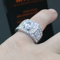 YWOSPX Luxury Full Crystal Big Stone AAA Cubic Zirconia Rings For Men And Women Male Metal Plated Zircon Ring SZ 6-13 Y40 4