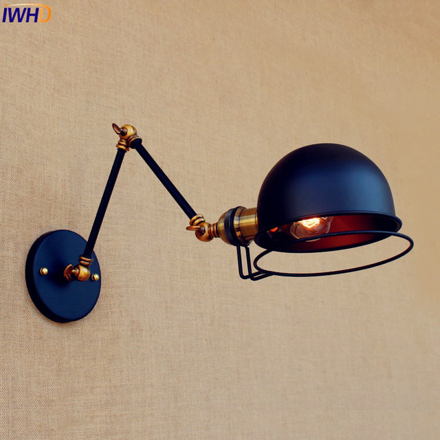 Adjsutable Swing Long Arm Wall Lamp Vintage Lampen Wandlampen Edison Loft Style Industrial Wall Sconce Light Appliques Pared