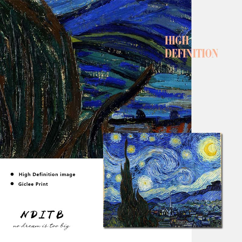 HTB1KSn6ThTpK1RjSZFMq6zG VXaX Van Gogh Starry Night Abstract Landscape Canvas Poster Famous Classic Wall Art Print Decorative Picture Modern Living Room Decor