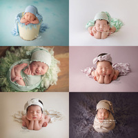 3 pcs/set baby photography prop Knitted lace hat +Wrapped in cloth+headband newborn photo shooting prop