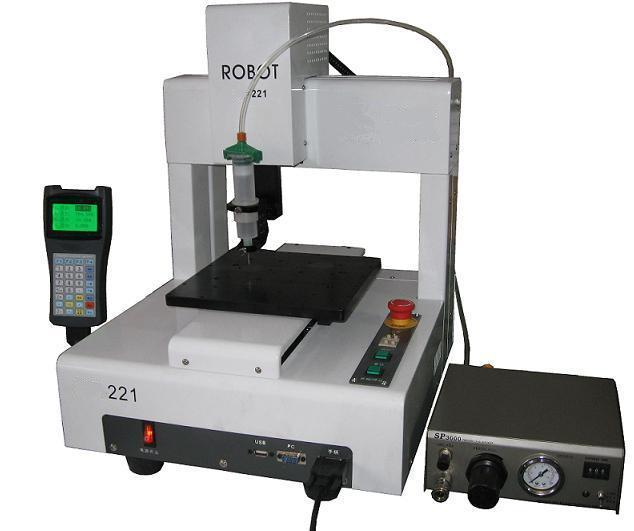 2015 new LY-221 automatic glue dispensor 3 axis compatible for mobile frame glue dispensing works 110V/220V