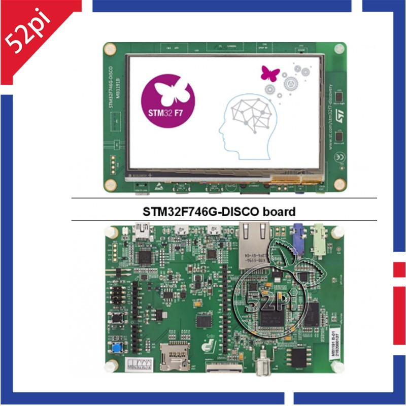 STM32F746G-DISCO STM32F7 Discovery Kit with STM32F746NG MCU ST-LINK/V2-1 STM32 ARM Cortex-M7 Development Board stm32l100c disco 32l100cdiscovery stm32l100rct6 stm32 32 bit cortex m3 discovery kit development board with on board st link v2