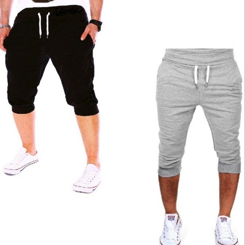 Mens Shorts Casual Cotton Pure Color Bermudas Hombre Short Pants Summer Joggers Short Sweatpant Hight Quality Compression Shorts