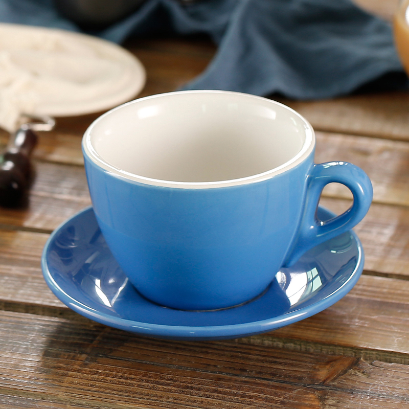 280ml Multi Color Thick Body Ceramic Coffee Set For Garland Latte Mug In Cups Saucers From Home Garden On Aliexpress