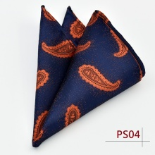 Paisley Floral Men Silk Satin Pocket Square Hanky Jacquard Woven Classic Wedding Party Handkerchief