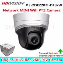 English Version Network IR MINI PTZ Dome Camera DS-2DE2202I-DE3/W 2.0 megapixel POE IP Camera 20M IR