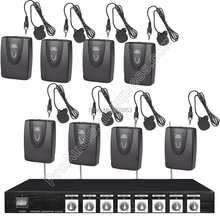 MICWL 8 Channel Radio Wireless Lavalier Lapel Karaoke Mic Microphone System