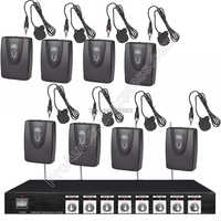 MICWL 8 Kanal Radio Drahtlose 8 Lavalier Revers Karaoke Mic Mikrofon System
