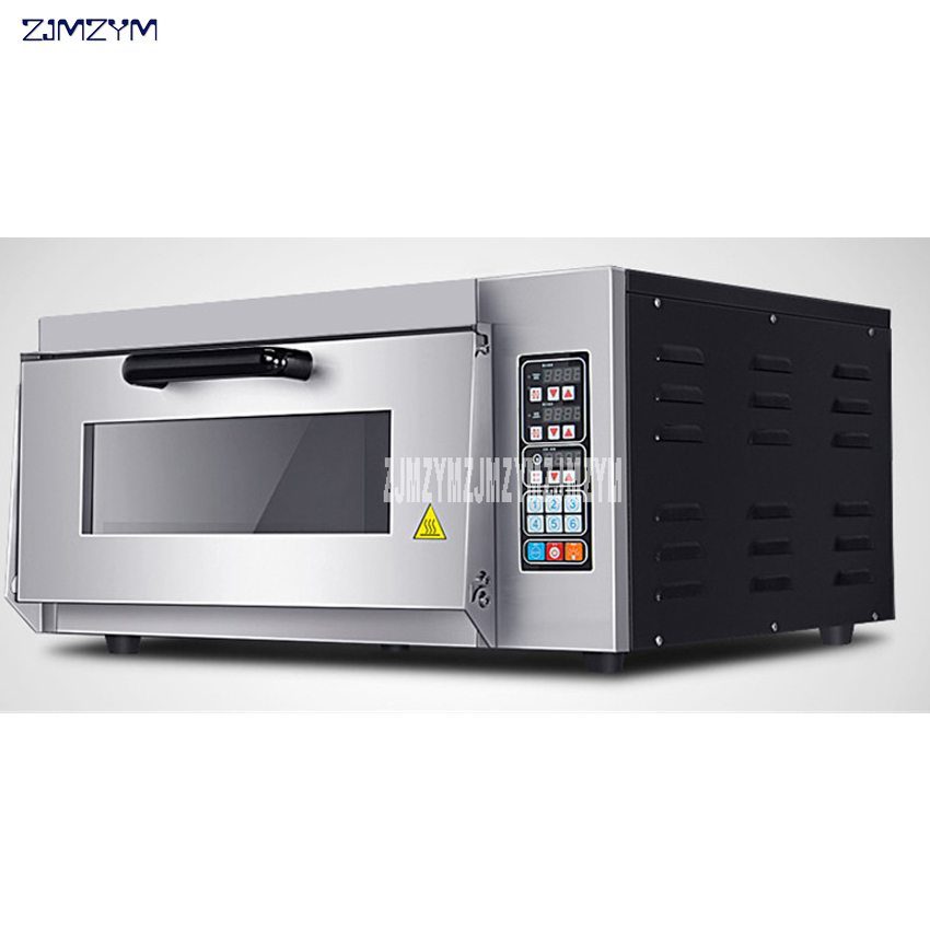 Electric Oven Commercially Baked Pizza Baked Single Layer Oven Egg Tart Bread Oven Computer Controlled 110V/220V