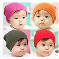 Симпатичные новорожденных чистого хлопка трикотажные конфеты цвет шапки детские мужская Малышей весна осень шляпы ребенка мальчик девушки шапочки 0-3years