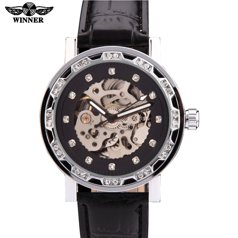 watches men women unisex luxury brand winner dress skeleton automatic mechanical wristwatches leather strap relogio masculino forsining brand trendy automatic mechanical watches men skeleton dial stylish dress wristwatches with leather band