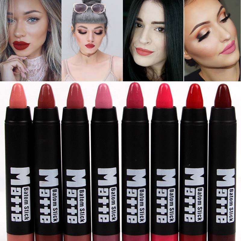8 Colors MISS ROSE Brand Lipstick Nude Lip Kit Long Lasting Lipgloss Lip Pigment Velvet Lipstick Matte Lip Tint Set Batom Stick
