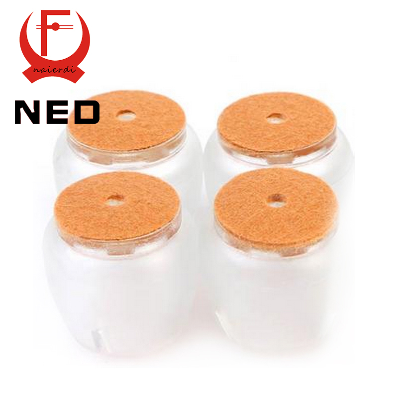 NED 8pcs/Set Chair Leg Caps Silica gel Feet Protector Pads Furniture Table Covers Round Bottom Non Slip Cup For Chairs
