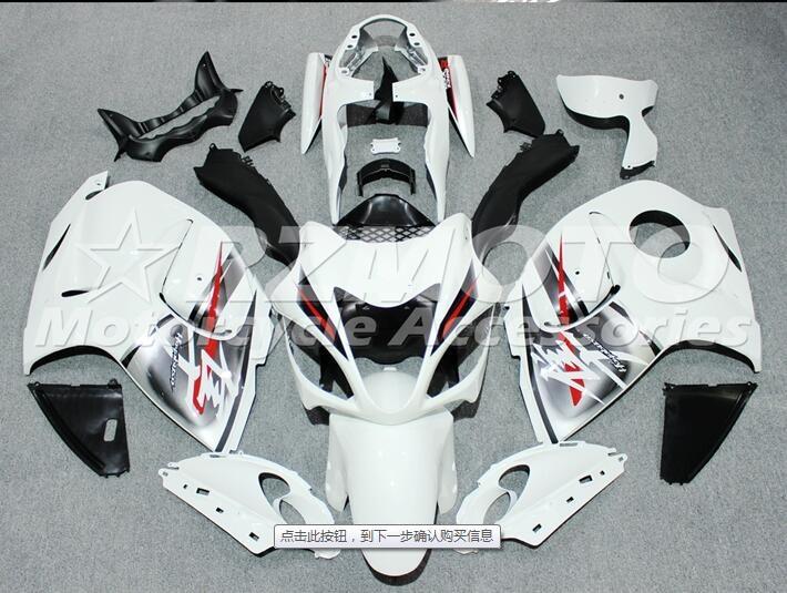 New ABS Injection Fairings For SUZUKI Suzuki GSXR1300 08 09 10 11 12 13 14 2008 2015 Motorcycle Fairing Kit White Y32