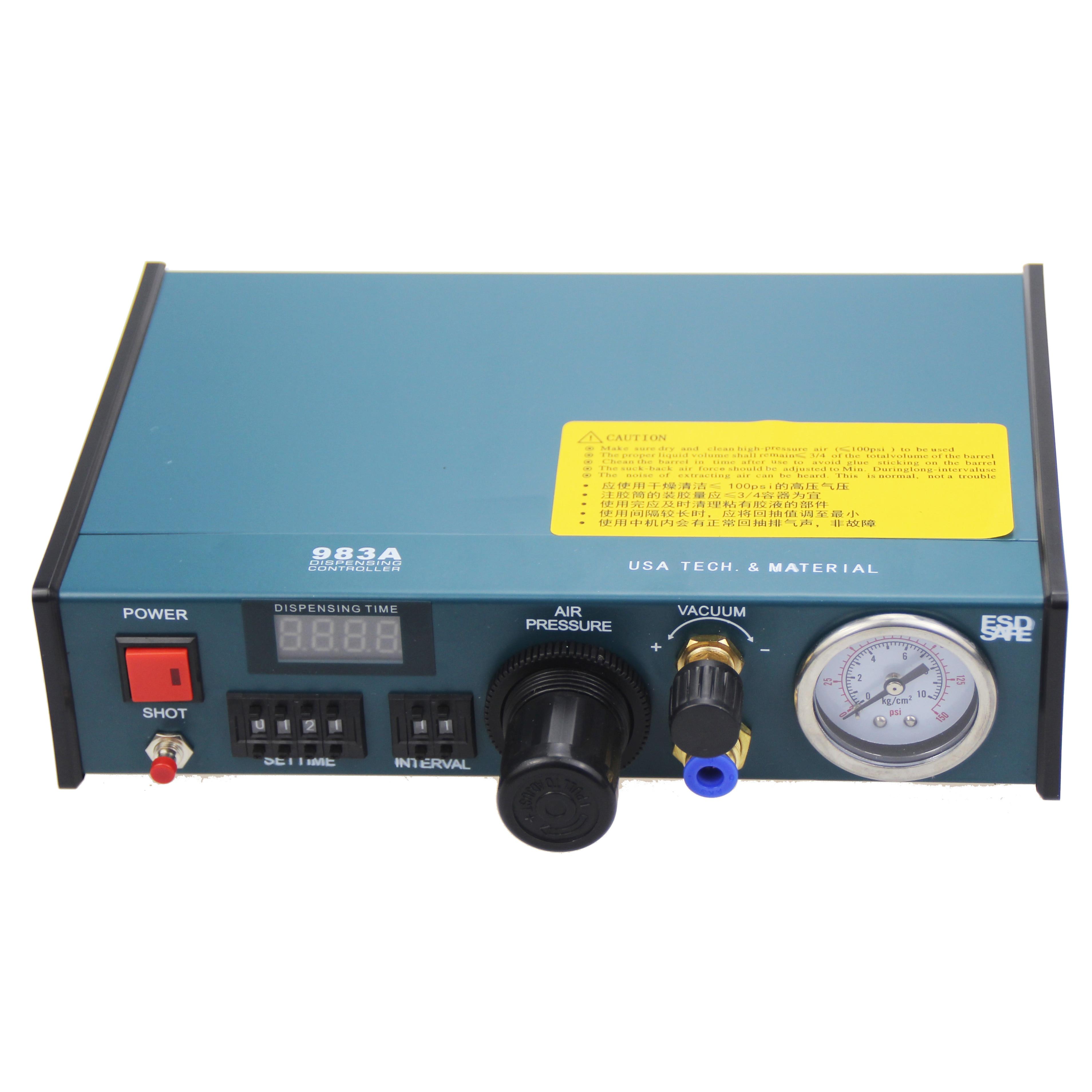 Free shipping VBP-983A Professional Precise Digital Auto Glue Dispenser Solder Paste Liquid Controller Dropper 220V