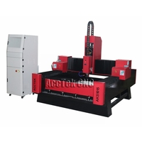 AccTek cnc stone router machinery with 5.5kw water cooling spindle motor/ Heavy duty structure cnc router for stone
