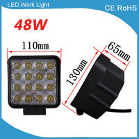 2pcs 4inch 48W 65mm LED Work Light For Indicators Motorcycle Driving Offroad Boat Car Tractor Truck