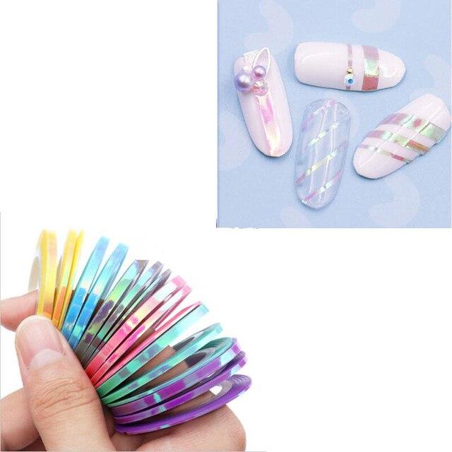 3/6Pcs Nail Art Sticker Striping Tape Line Stickers Mermaid Candy ...
