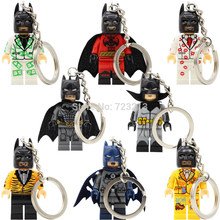 X0133 Batman Figure Keychain DC Single Sale Leopard Suit Kiss Tuxedo Damian Wayne Building Blocks Sets Toys Model