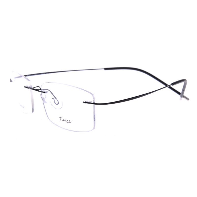 a4fd35966e Light weight 8 Colors Square Rimless Optical Glasses Memory Titanium  Eyeglasses Prescription Rx Optical Frames Demo Lens Only-in Eyewear Frames  from Women s ...