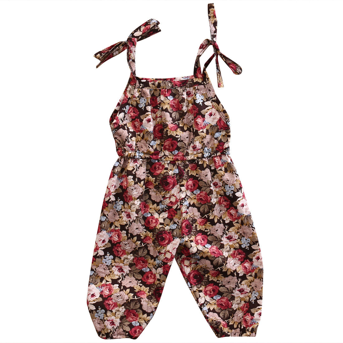 Newborn Toddler Infant Baby Girls Clothes Flower Print   Romper   Jumpsuit Sleeveless Sunsuit Clothes 0-3T