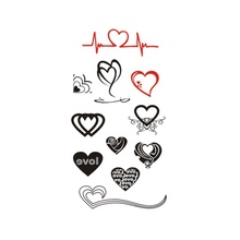 Hot Waterproof Temporary Tattoo Stickers For Adults Kids Body Art Love Collection MX-035 Fake Tatoo For Man Woman