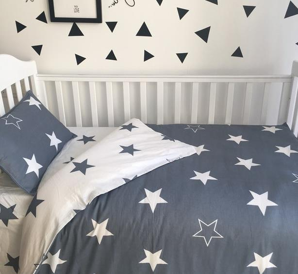 Promotion! 3PCS Cartoon  baby crib bedding set cotton material jogo de cama,Duvet Cover/Sheet/Pillow Cover,