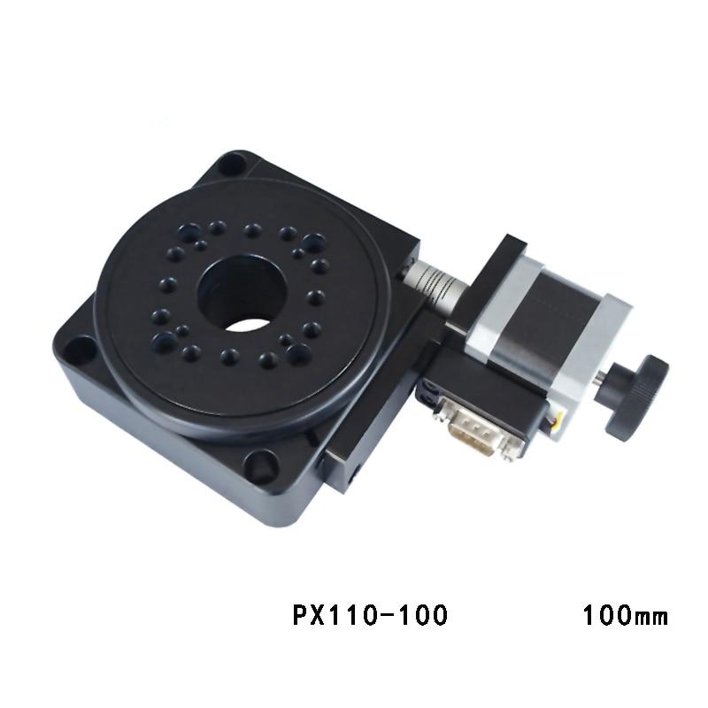 Elektrische Roterende Machine Optische Roterende Platform Gemotoriseerde Rotatie Stage 100 Mm Lager Schaal PX110 100 Y