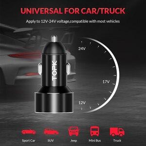 Image 5 - TOPK G209 caricabatteria da auto doppio USB con Display digitale per iPhone Xs Max caricabatteria da auto per monitoraggio della tensione Samsung Xiaomi 3.1A per telefono
