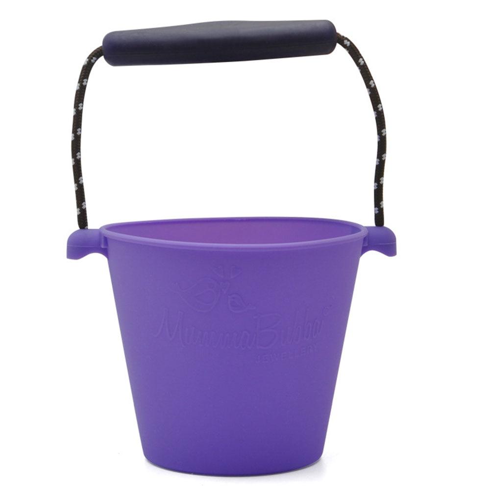 Пляжный набор игрушек для детей силиконовые складные Ручные игры песочный баррель детские игрушки для малышей душевая Ванна игрушка песочные водяные игрушки - Цвет: purple