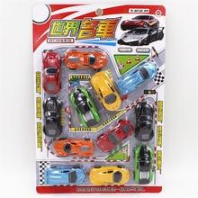 Doub K 12 st Minitraktor Tillbaka Bilmodell leksaksset simulering sport billeksaker Pussel Leksak leksak för barn barn pojkar gåvor
