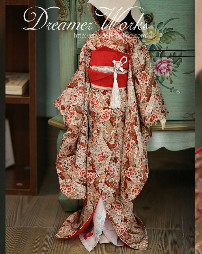 1/4 1/3 scale BJD doll clothing Japanese kimono for BJD/SD EID Women accessory.Not included doll,shoes,wig and other 17C3356 ivories повседневные брюки