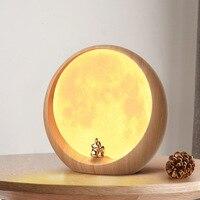 Romantic Decoration USB Charging Moon LED Night Light Bedside Lamp Mid Autumn Festival Gift Birthday Gift Employee Benefit