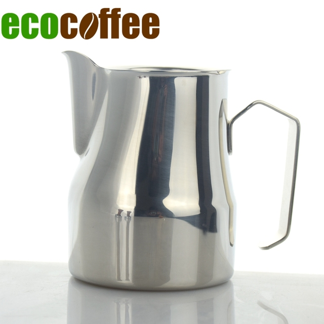 Stainless Steel Coffee Pitcher Kitchen Milk Frothing Jug Cuccino Maker Tool 250