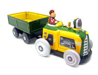 A Rare Collection Of Iron Toys Tin Transport Tractor Model